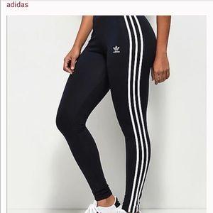 1 NITE SALE! Adidas Navy 3 striped leggings
